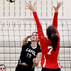 John P. Cleary | The Herald Bulletin<br /> Lapel's Ashlylnn Allman gets her shot past Anderson's Taylor Webber.