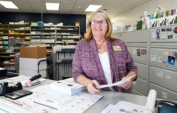 John P. Cleary | The Herald Bulletin<br /> AnnaMarie Hinton, owner of JAM Printing in downtown Anderson.