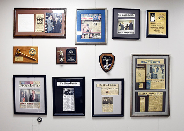 John P. Cleary   The Herald Bulletin<br /> Visual reminders of Madison County Prosecutor Rodney Cummings past and his career are all throughout the Prosecutors office in the courthouse.