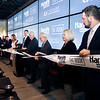 John P. Cleary | The Herald Bulletin<br /> The official opening of The Book, the new sports betting area at Harrah's Hoosier Park Racing & Casino, kicked off Thursday with a ribbon cutting ceremony.
