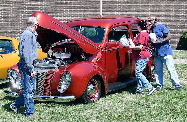 John P. Cleary | The Herald Bulletin<br /> The Madison County Solidarity Labor Council & United Auto Workers Building Committee Labor Day picnic Monday also had a classic car cruise-in which featured several dozen vehicles.