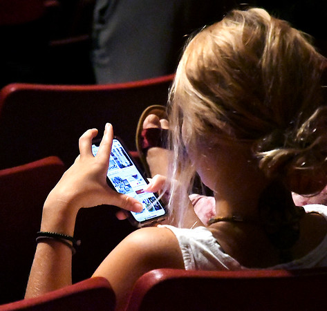 John P. Cleary | The Herald Bulletin<br /> AU student using their smart phone.