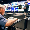 John P. Cleary | The Herald Bulletin<br /> Robin Lawson, of Cicero, goes over his pro football sheet as he was one of the first patrons to place a bet at The Book Thursday, the new sports betting area at Harrah's Hoosier Park Racing & Casino.