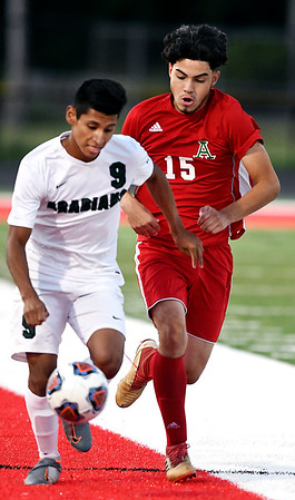 John P. Cleary   The Herald Bulletin<br /> Pendleton Hts. vs Anderson HS in boys soccer.
