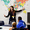 John P. Cleary | The Herald Bulletin<br /> Anderson Intermediate School fifth grade teacher Jenny Miller conducts class.<br /> <br /> ACS first day of school at Anderson Intermediate School.