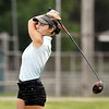 John P. Cleary | The Herald Bulletin<br /> Madison-Grant's Kasey Cleaver keeps her eyes on her drive on the 12th hole at Elwood Golf Links.
