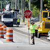 John P. Cleary | The Herald Bulletin<br /> Workers from D C Paving mill down Cross Street west of Broadway Wednesday afternoon. They will be resurfacing Cross Street from Broadway to Indiana Avenue.
