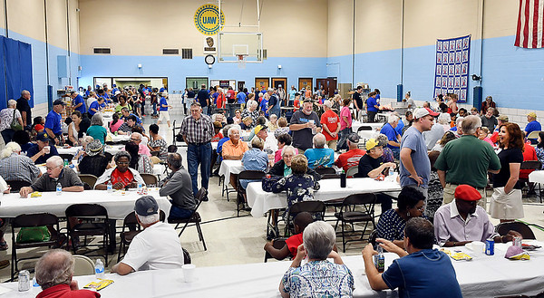 John P. Cleary | The Herald Bulletin<br /> A large crowd turned out for this years Madison County Solidarity Labor Council & United Auto Workers Building Committee Labor Day picnic held at the UAW union hall at 29th & Madison Ave. Monday.