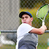 John P. Cleary | The Herald Bulletin<br /> Shenandoah's no. one singles player Lance Holdren returns the ball with a forehand shot against Lapel's Jesse McCurdy.