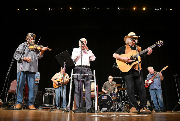 John P. Cleary | The Herald Bulletin<br /> The Cops & Robbers Band perform for the 29th Little Bit Country Jamboree.