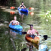 John P. Cleary | The Herald Bulletin<br /> On a warm, sunny Labor Day holiday, these folks were enjoying the weather conditions by doing some kayaking around Shadyside Lake Monday afternoon. Here they are floating through the channel heading for the south lake.