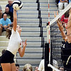 John P. Cleary | The Herald Bulletin<br /> Frankton's Kate Sperry makes one of her kills she had during the match against Lapel.