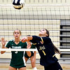 Lapel's Emma Jackley hits the ball as she sets her teammate.