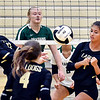 Lapel's Elizabeth Stern and Emma Jackley both back off the ball thinking the other has it when neither got it.