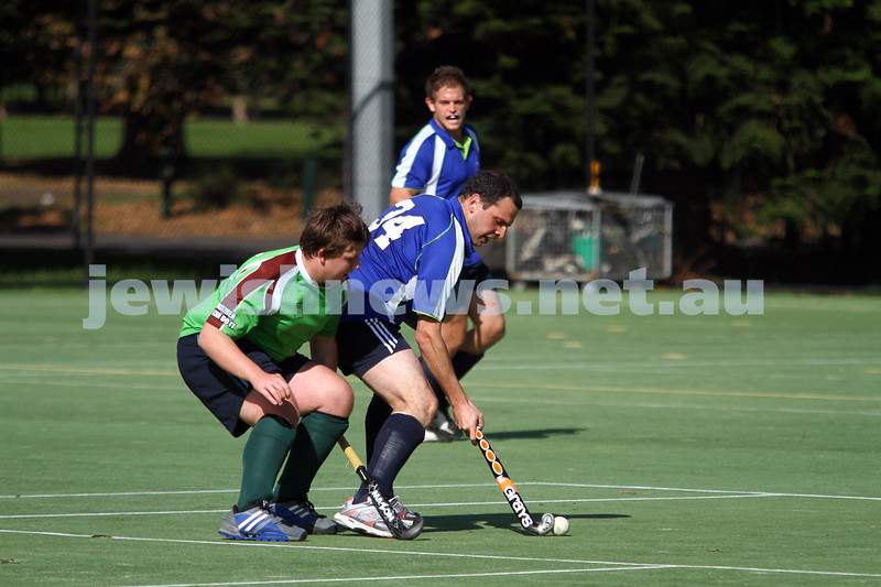 29-4-12. Maccabi Hocky Club v Ballarat. Photo: Peter Haskin
