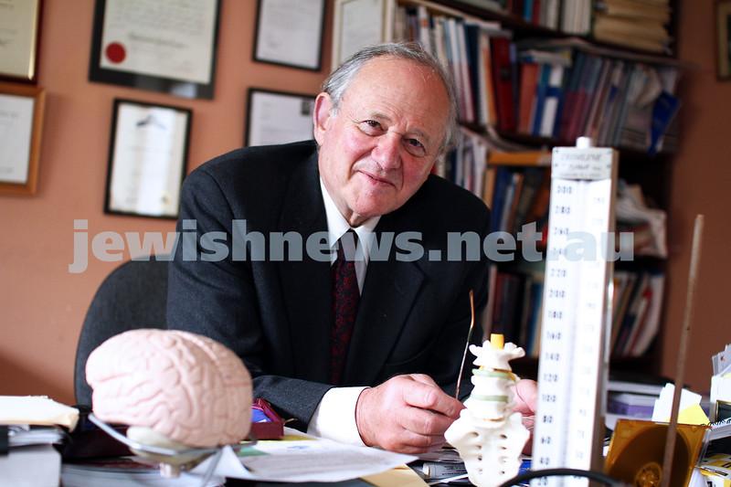 20-1-12. Prof Frank Vajda received an AM. Australia Day honours 2012. Photo: Peter Haskin