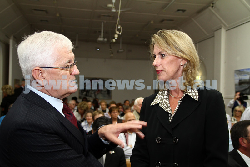 25-1-12. International Day of Commemoration in memory of the Victims of the Holocaust. Jewish Holocaust Centre, Elsternwick. Antun Babic, Georgie Crozier. Photo: Peter Haskin
