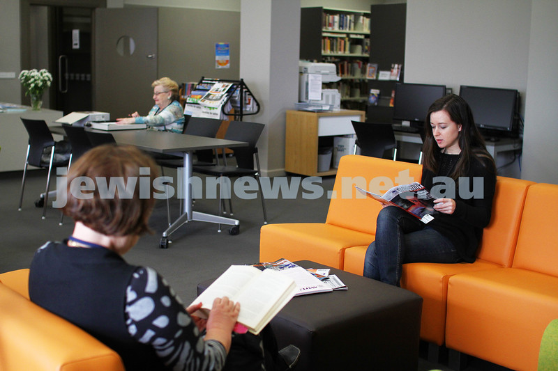 5-3-12. Part of the  newly opened Lamm Library at 304 Hawthorn Rd. Photo: Peter Haskin
