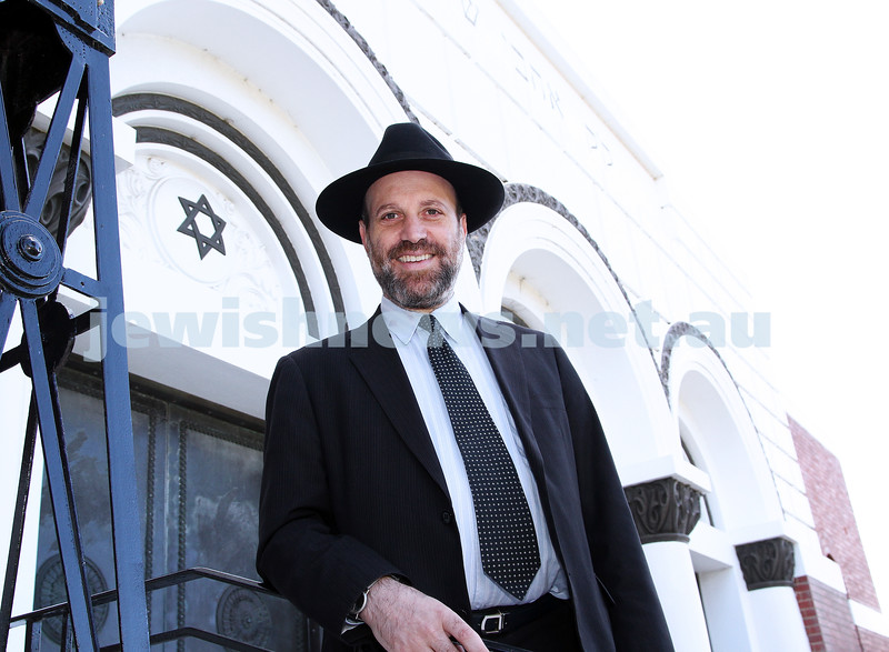 10-1-12. Ronnie Figdor, new CEO of St Klida Hebrew Congregation. Photo: Peter Haskin
