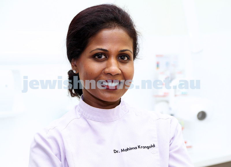 Dr Mahima Krongold. Dentist. Hawthirn Rd, Family Dental Clinic. Photo: Peter Haskin