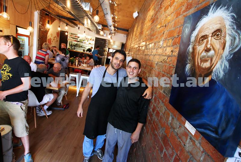 14-2-12. Einstein Cafe. Hawthorn Rd, Caulfield. Owners Tomer Gian (left) and Eitan Brami. Photo: Peter Haskin