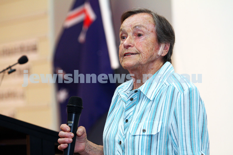 25-1-12. International Day of Commemoration in memory of the Victims of the Holocaust. Jewish Holocaust Centre, Elsternwick. Photo: Peter Haskin