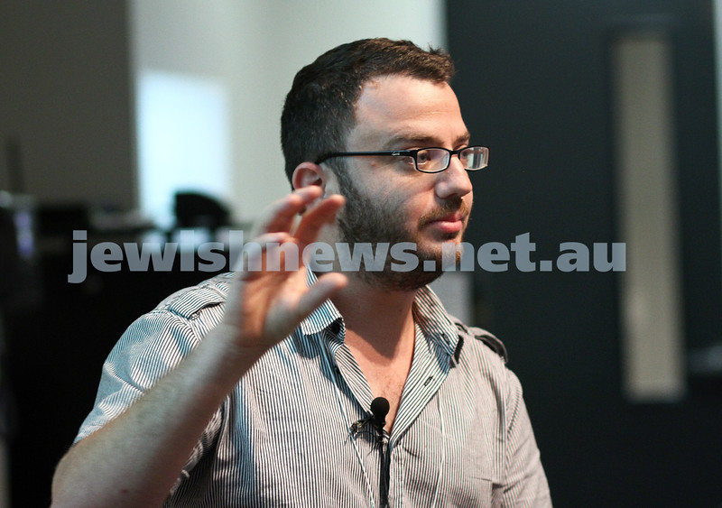 13-2-12. Monash Conference. Shahar Burla.  Photo: Peter Haskin