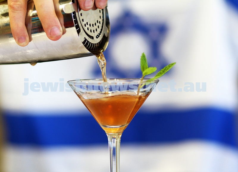 Liquid Infusion created a special mocktail for Yom Ha Atzmaut 2011. Photo: Peter Haskin