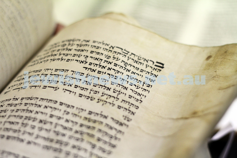 Old sefer torah from Hobart. One of the scrolls from Hobart that requires restoration. Photo: Peter Haskin