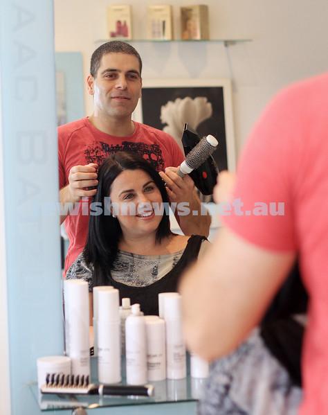 2-12-10. Isaac Batzli, hair dresser. photo: Peter Haskin