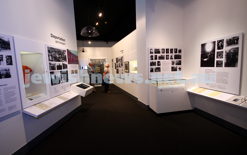 15/3/10. Refurbished Holocaust Museum in Melbourne. Photo: Peter Haskin