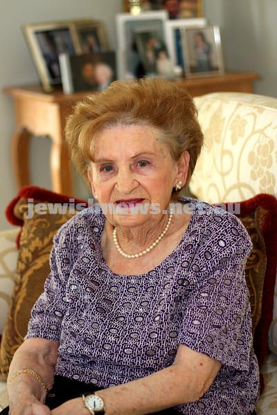 20.4.10. Chancha Rutman, 95 years old. Born on ANZAC Day. photo: peter haskin