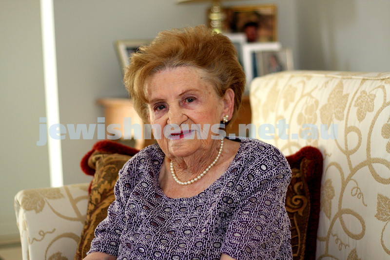 20.4.10. Chancha Rutman, 95 years old. Born on ANZAC Day. photo: peter haskin