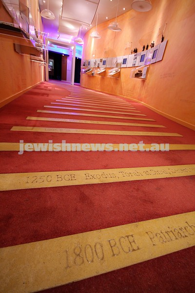 Jewish Museum of Australia. Time line of jewish history. photo: peter haskin