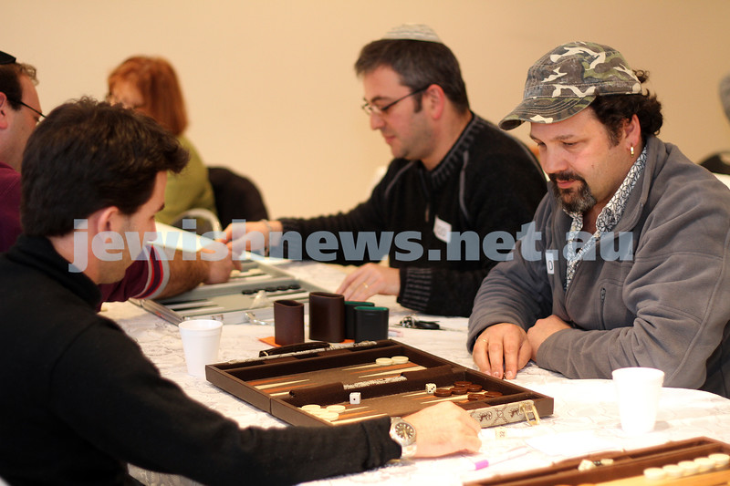 15/8/10. Sheshbesh tournament put on by the Sephardi Shul of Melbourne. Photo: Peter Haskin