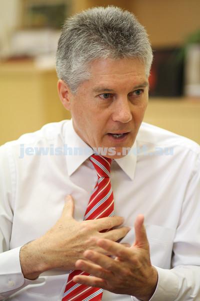 6-8-10. Australian Foreign Minister Stephen Smith talks to the AJN. Photo: Peter Haskin