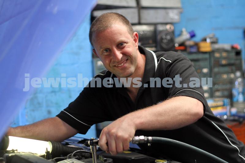 23-11-10. Mechanic Adam Adler at his Hawthorn Rd garage. Photo: Peter Haskin