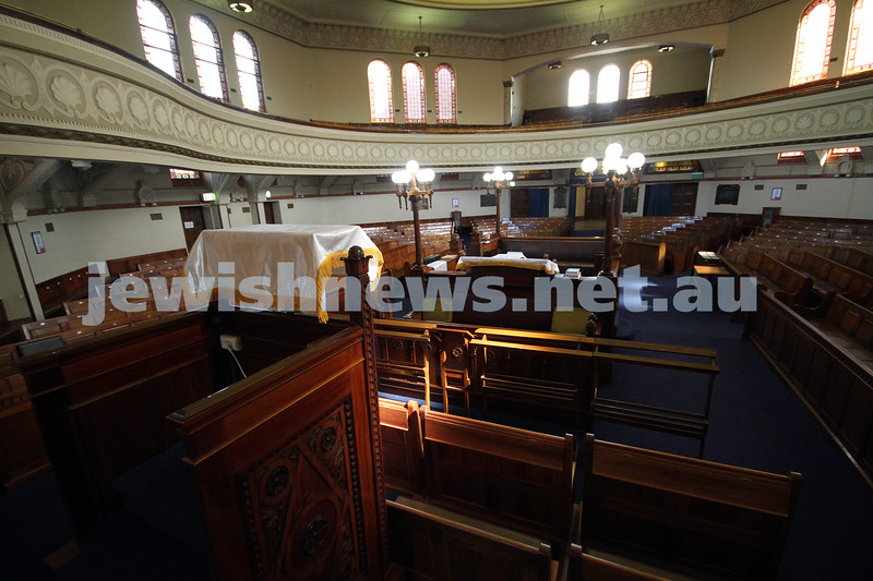 St Kilda Hebrew Congregation. View from the pulpit. Photo: Peter Haskin