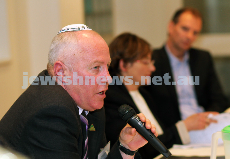 14-11-10. State Election debate for the seat of Caulfield held at Blake St Synagogue. Greens Candidate Phillip Walker. Photo: Peter Haskin