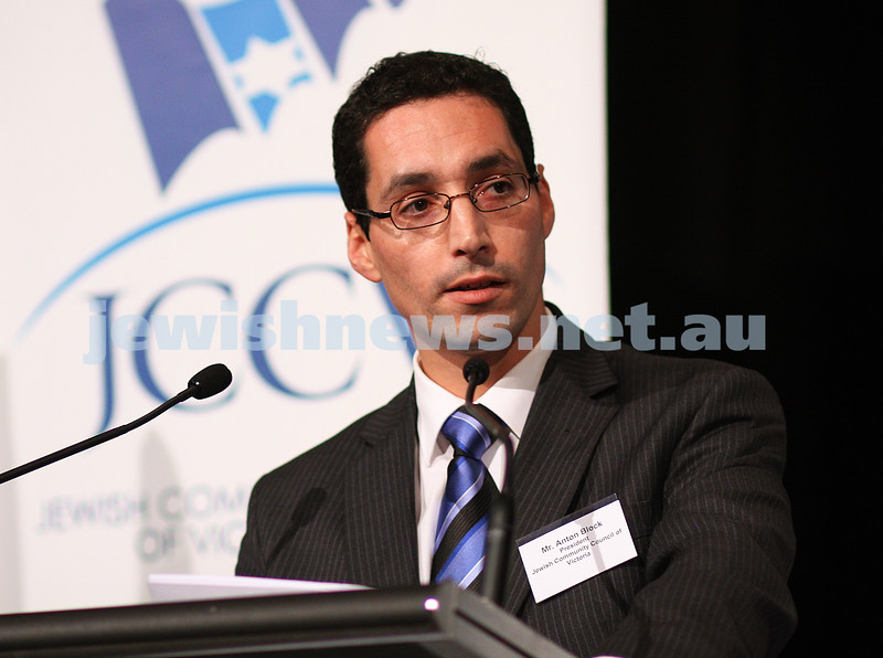 November 2010. Anton Block, newly appointed Chairman of the ADC. In his days as President of the JCCV. photo: Peter Haskin