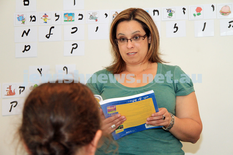 Israeli now living in Australia, Shirs Golombick. Hebrew teacher. photo: peter haskin