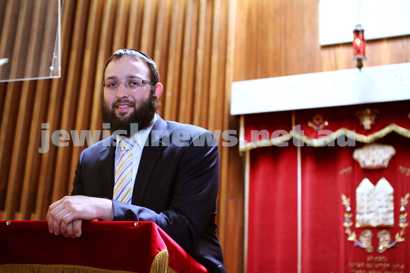7-11-11. Rabbi Daniel Rabin, new rabbi for the North Eastern Hebrew Congregation, Doncaster. Photo: Peter Haskin