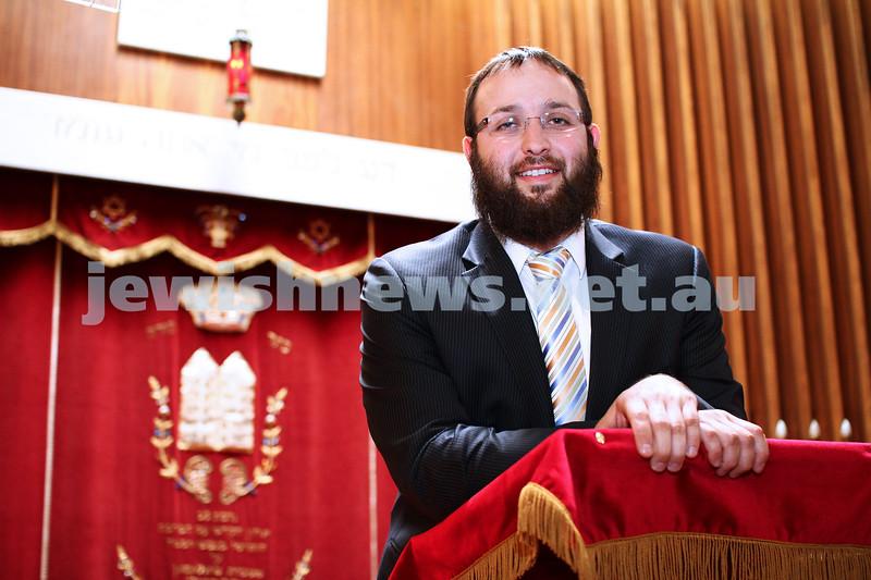 7-11-11. Rabbi Daniel Rabin, new rabbi for the North Eastern Hebrew Congregation, Doncaster. Photo: Peter Haskin