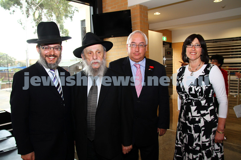 13-11-11. Opening of new buildings at Yeshivah and Beth Rivkah. Photo: Peter Haskin
