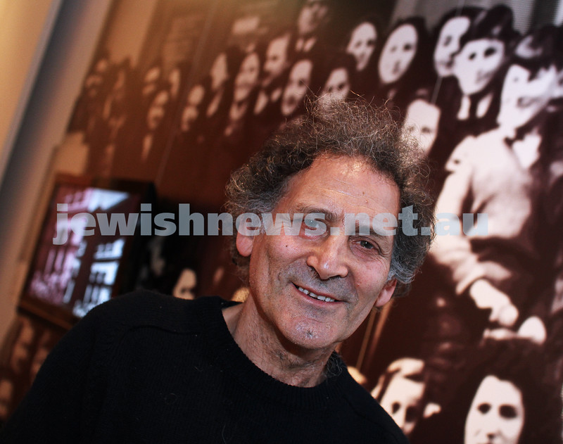 "Arnold Zable at the Jewish Museum ""Mameloshn"" exhibition. photo: Peter Haskin"