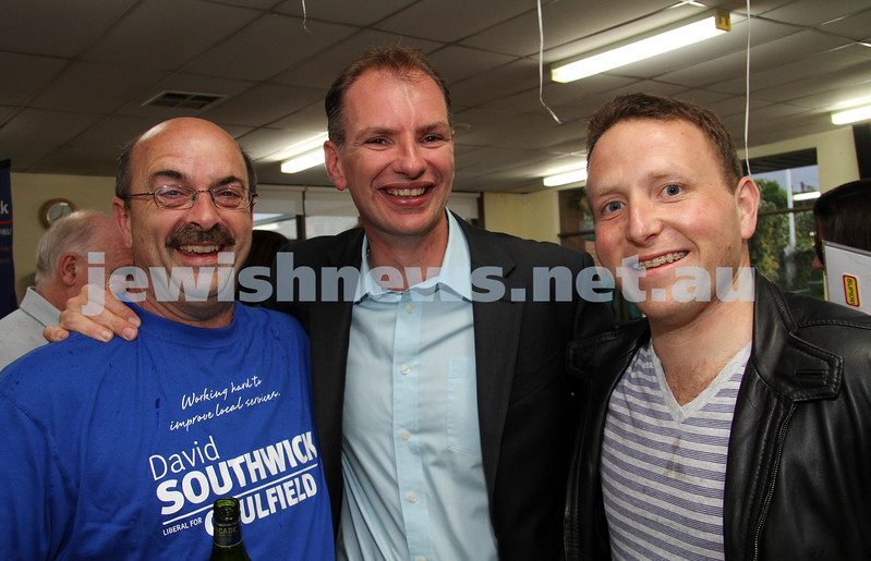 Victorian State election night. November 27, 2010. Supporters of Liberal candidate for Caulfield, David Southwick  gathered at the Caulfield lawn bowls club for results. Photo: Peter Haskin