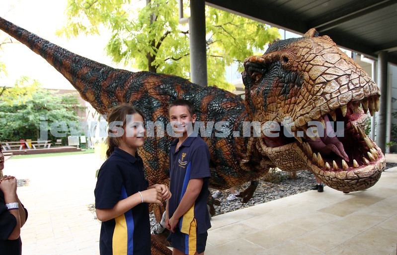 24-3-11. Walking With Dinosaurs at Bialik College. Photo: Peter Haskin