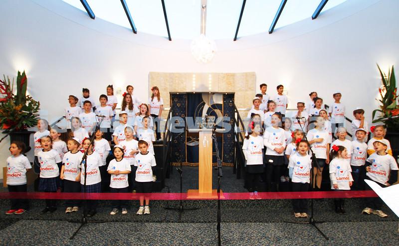 12-8-13. Hamerkaz Centre. Victorian Premier Dr Denis Napthine visits the new Centre to officially open the Lamdeni School. The Lamdeni choir performs for the Premier. Photo: Peter Haskin