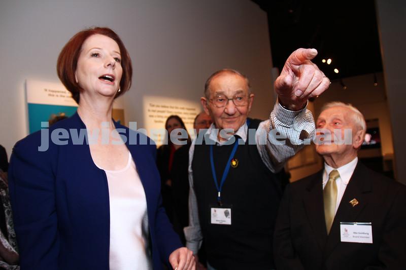 26-7-12. Australian Prime Minister Julia Gillard tours the Jewish Holocaust Museum and Research Centre.  Photo: Peter Haskin