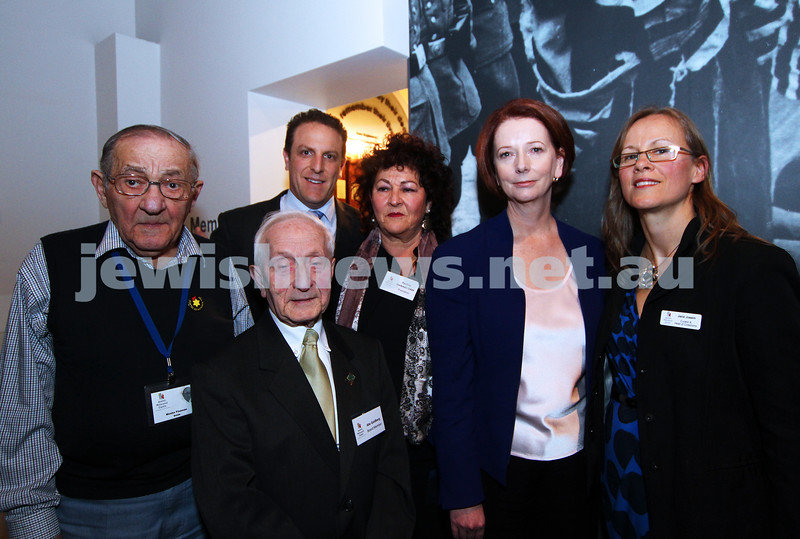 26-7-12. Australian Prime Minister Julia Gillard  with the board of the Jewish Holocaust Museum in Melbourne. Photo: Peter Haskin